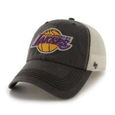 Los Angeles Lakers Caprock Canyon Charcoal 47 Brand Stretch Fit Hat