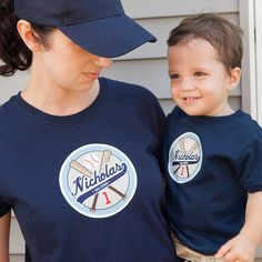 Baseball Party - Personalized Printable Iron-Ons for T-Shirt (DARK FABRIC ONLY)- Two Plus Us. $12.00, via Etsy.