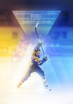 Ice Hockey PLAYOFFS poster by Lukáš Smiešny, via Behance