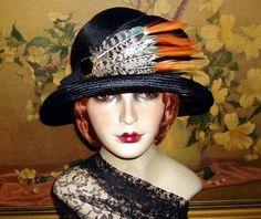 Elegant Cloche Couture Classy 1920s Vtg Gatsby Flair Flapper Hat | eBay