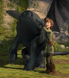I just love this picture of Hiccup scratching Toothless's back, like he's a regular pet!