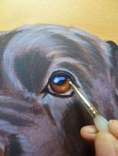 how to paint dog acrylics step 4