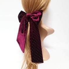 Ponytail Scrunchie, Knot Ponytail, Handmade Hair Accessories, Hair Accessories For Women, Ribbon Hairstyle, Big Hair Bows, Velvet Hair, Ponytail Holders, Little Princess