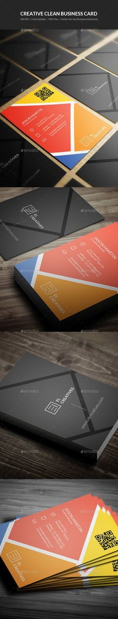 Creative Clean Business Card Template PSD #visitcard #design Download: http://graphicriver.net/item/creative-clean-business-card-16/13490464?ref=ksioks