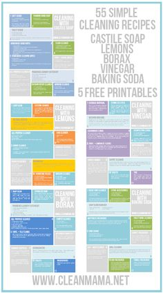 55 Simple Cleaning Recipes - 5 Free Printables - Clean Mama