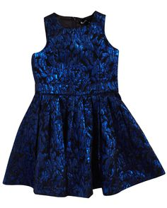 Girls Metallic Party Dress - Bardot Junior