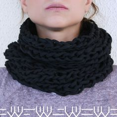Black Tube Snood