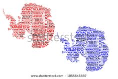 Sketch Antarctica letter text continent, Antarctic word - in the shape of the continent, Map of continent Antarctica - red and blue vector illustration Map Of Continents, Antarctica, Red And Blue, Sketch, Shape, Stock Photos, Lettering, Illustration, Sketch Drawing