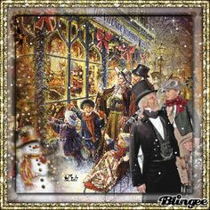 One day before Christmas . Old Time Christmas, Days Before Christmas, Old Fashioned Christmas, Christmas Past, Very Merry Christmas, Victorian Christmas, Christmas Shopping, Christmas Scenes Pictures, Animated Christmas Pictures