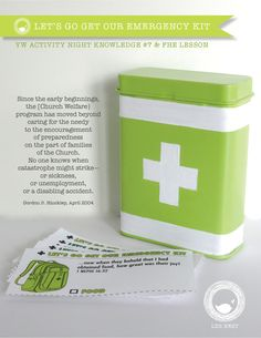 Moralist • FHE & YW Knowledge #7 Let's Go Get Our Emergency Kit