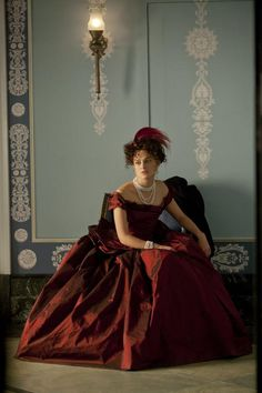 Keira Knightley posing while in a 'Anna Karenina' fitting.