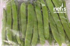 Buzlukta Kışlık Fasulye Tarifi Salty Foods, Iftar, Sweet And Salty, Food Storage, Preserves, Pickles, Freezer, Asparagus, Cooking Tips