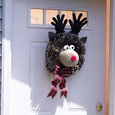 reindeer wreath -cut for kids