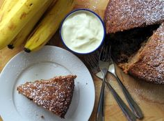 Don't throw away your banana peels, they are the secret ingredient in this cake.
