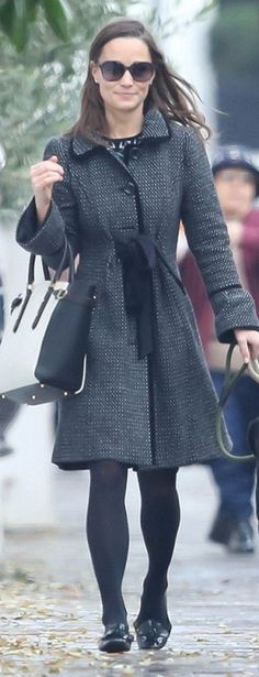 Pippa Middleton in Coat – Monsoon  Purse – Aspinal
