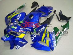 New ABS road injection fairings kit for CBR 600 RR 03 04 2003 2004 blue movistar fairing kits bodywork Cool Things To Buy, Stuff To Buy, Motorcycle Accessories, I Am Awesome, Cbr 600, Abs, Blue, Watch, Shopping