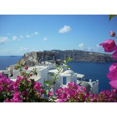 Byzantine Castle Ruins, Oia ❤ liked on Polyvore featuring photography