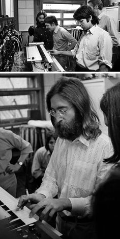The Beatles used a MOOG on the Abbey Road album. Today it is a relic. With few exceptions, most other artist's experiments with the MOOG resulted in tacky sounds at best, headache material at worst. All the other effects you hear in Beatles music were created using backward tapes, distortion, filters, and unfamiliar musical instruments. Songs it was used for: I Want You, She's So Heavy (Moog used for wind sound ) Here Comes the Sun Because Maxwell's Silver Hammer