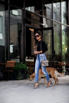 LNA Tie Back Bodysuit (wearing an XS) L'Agence Jeans (wearing a Saint Laurent Sunglasses Jules Smith Hoop Earrings Gucci 'Dionysus' Bag (mini size) Manolo Blahnik Heels Casual Outfits For Teens, Night Outfits, Classy Outfits, Fall Outfits, Cute Outfits, Fashion Outfits, Womens Fashion, Sunday Outfits, Weekend Outfit