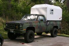 Cucv with camper