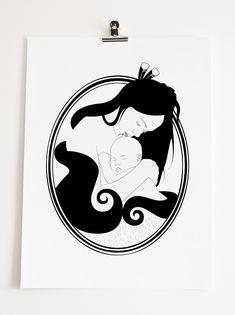 Bronwyn Waipuka Kura Gallery Maori Art Design New Zealand Mana Wahine Framed Print Mama Aroha Buy Prints, Framed Prints, Maori Designs, New Zealand Art, Woman Sketch, Surfboard Art, Maori Art, Kiwiana, Illustration