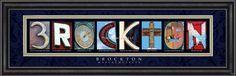 Brockton, MA. Framed Letter Art