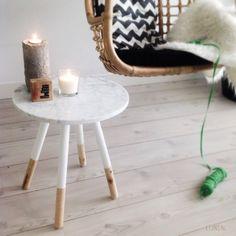 LIJNS kwantumhack ronde bijzettafel met marmer Marble For sale @ shop.lijns.nl