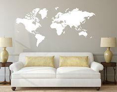 World Map Stencil New Vinyl Decal Sticker Decor by LabZosos