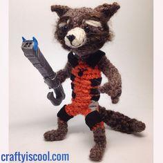 rocket raccoon crochet - Google Search