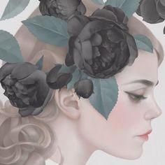 Digital artwork by Hsiao Ron Cheng for Cœur de Pirate's 'Roses'