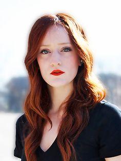 Elise Hughes, Stylist at Juel Salon #redhair #red #redlips #waves #curls #hair #model