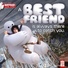 Baymax Life Tip - Essential Tips From The Most Huggable Healthcare Companion. so true- friends are life Buy Movies, Good Movies, Disney And Dreamworks, Disney Pixar, Disney Movies Anywhere, Big Hero 6 Baymax, Disney Addict, Cute Disney, Vintage Disney