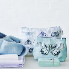Calming shades of washbags Designers Guild, Calming, Vibrant, Shades, Throw Pillows, Stylish, Toss Pillows, Cushions, Decorative Pillows
