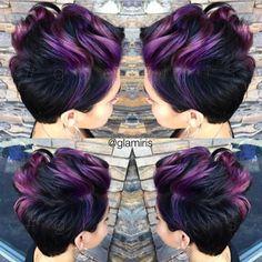 "Hot on Beauty on Instagram: ""Pretty Purple Punk by @glamiris #hotonbeauty #featurepage #beautymag Hot Beauty Magazine"""