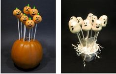 how to make ghost and pumpkin cake pops