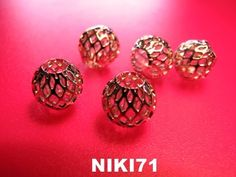 Silver Tone Round Mesh Beads  # 21. Starting at $4 on Tophatter.com!