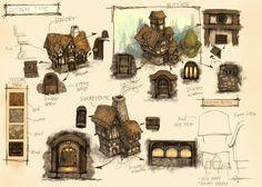 ArtStation - Village_concept design, Canon Lee