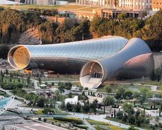Rhike Park Music Theater and Exhibition Hall by Fuksas / Photographer : Joel Rookwood