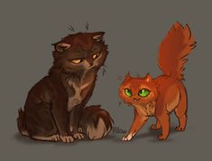 Squirrelpaw and Brambleclaw by GrayPillow