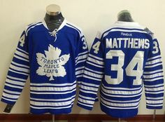 0cf7064de Maple Leafs  34 Auston Matthews Blue 2014 Winter Classic Stitched NHL  Jersey Reebok Hockey