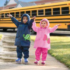 RJ on One Step Ahead website, modeling Kids Pocket Raincoat