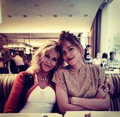 Dakota Johnson with her mother.