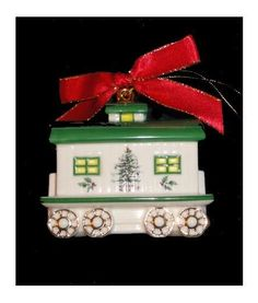 Christmas Tree Spode Train China Ornament