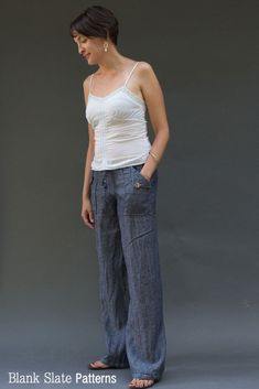 Oceanside Pants Sewing Pattern - Drawstring Waist Pants by Blank Slate Patternswant about 3 pairs of these!