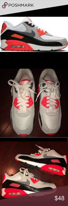 big sale e9414 c5613 Nike Air Max 90 s OG Infrared s (Y 5.5) Sz 7 Lightly Worn a handful