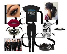 """""""One Direction"""" by ceceislit ❤ liked on Polyvore featuring Topshop, adidas, Lime Crime and Samsung"""