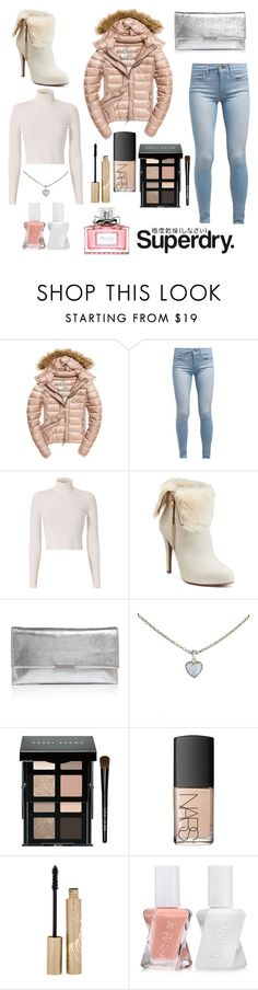 """""""The Cover Up – Jackets by Superdry: Contest Entry"""" by sugarrrrr8000 ❤ liked on Polyvore featuring Fuji, Levi's, A.L.C., Jennifer Lopez, Loeffler Randall, Cartier, Bobbi Brown Cosmetics, NARS Cosmetics, Stila and Essie"""