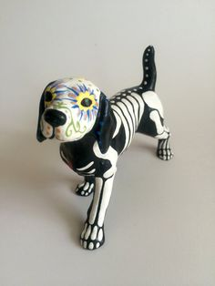 Day of the Dead Beagle Dog Sugar Skull pet by SpiritofAine on Etsy