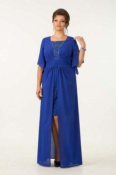 I love royal blue designer plus size dress under $100 dollars