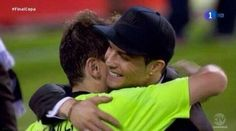 Ronaldo and Casillas celebrate after defeating Barcelona in the Copa del Rey final